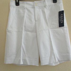 NWT - CHAPS white shorts - sz 2 - MSRP $50.00